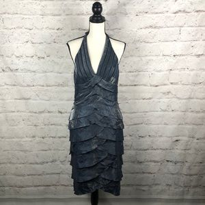 NWOT CACHE Ruffle Fitted Dress Sz 8